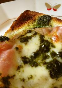 バジルペースト&チーズのトースト