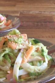 秋の味覚☆柿と野菜とかまぼこのサラダ☆の写真