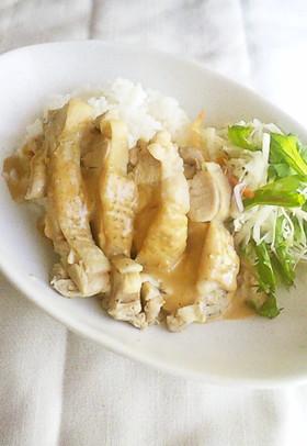 カフェ風ランチ〜茹で鶏のマヨネーズソース