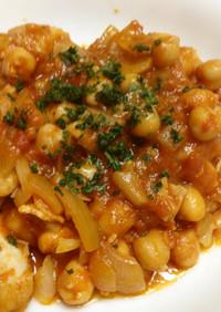 鶏肉とひよこ豆のトマト煮