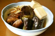 茄子高野豆腐の煮びたし