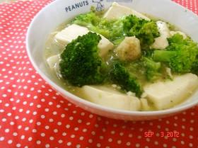 簡単早い!ブロッコリーと豆腐の中華煮込み