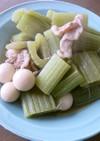 ラワンふきとウズラの卵のさっと煮。