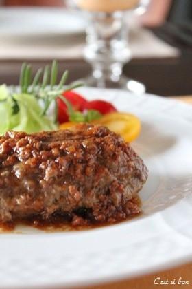 醤油麹のハンバーグ