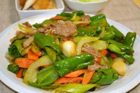 ピーマンメインの野菜中華炒め