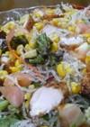 揚げ春雨と鶏唐揚げのサラダ