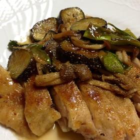 鶏もも肉の照り焼き 山椒風味