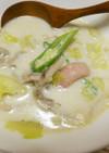 きのこソーセージ☆残り野菜のミルクスープ