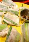 ニラと豚肉の生春巻き&ニラソース