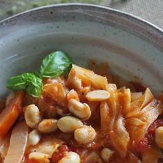 キャベツとお豆さんのトマト煮☆彡