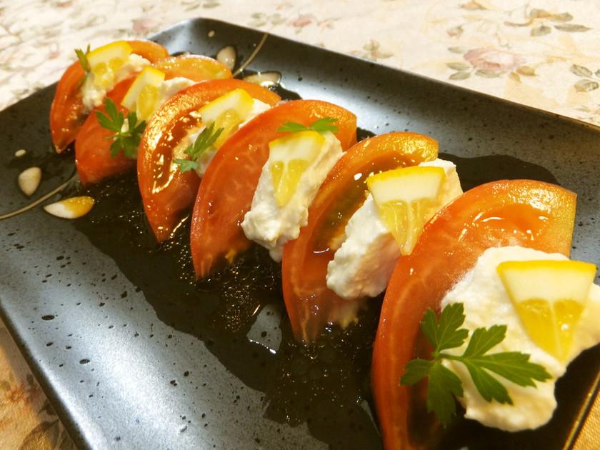 クリームチーズ豆腐deカプリ風サラダ♡