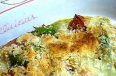 カボチャとアスパラのチーズパン粉焼き