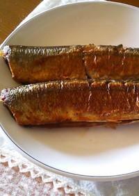 秋刀魚の塩焼~(⌒‐⌒)ご飯に合います