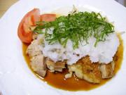 おろしポン酢でおいしい鶏モモ肉焼くだけの写真