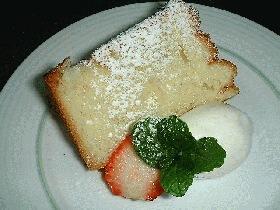 シンプルバニラのシフォンケーキ
