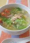 簡単★レタスとハム玉トマトの中華風スープ