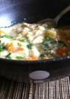 胃にやさしい豆腐入り芋粥