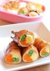 カラフル野菜とチーズの豚ソース巻き