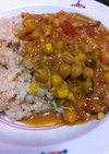 ひよこ豆とキノコと野菜の肉なしカレー