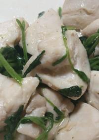 塩麹使用★鶏胸肉とクレソンのバター炒め★