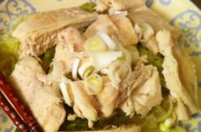 はなまるレシピで:塩鶏レタス