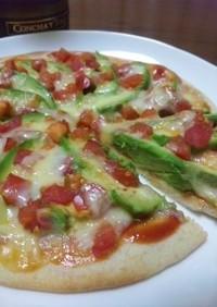 ピザシートで!!アボカドトマトピザ