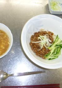 ジャージャー麺と酸辣湯のつくり方