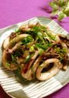 いかと舞茸のマヨ炒め✿