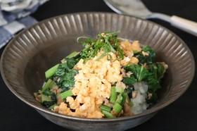 ツナ缶と大根の葉の常備菜(かぶの葉でも)