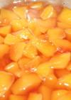 桃のコンポート シロップ煮
