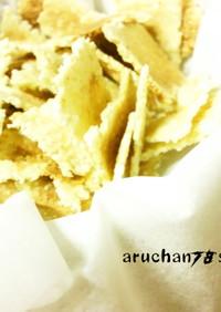 レンジで簡単✿胚芽押麦のシリアル風煎餅✿