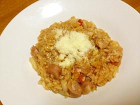 プチッとおいしい♪玄米トマトリゾット