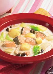 鮭とじゃがいものミルクスープの写真