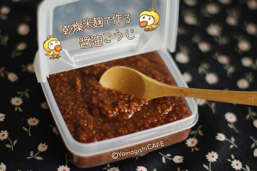 乾燥麹で作る醤油麹♡観察レシピ