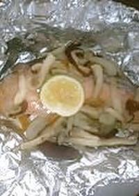 鮭とキノコ野菜のホイル焼き♪