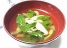 チンゲン菜と椎茸のスープ