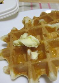 朝食に♪ 卵なし☆ワッフル *リッチ*