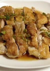 鶏肉の油淋鶏(ユーリンチー)ソースがけ♪