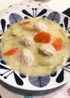 白菜と鶏団子のクリームシチュー