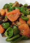 茄子とピーマンとまとのオリーブオイル炒め