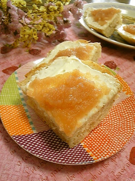林檎ジャム&クリームチーズのお洒落パン