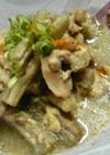 お袋の味~鶏とたたきごぼうの卵とじ