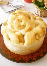 カラメル林檎とクリチのSweetsパン