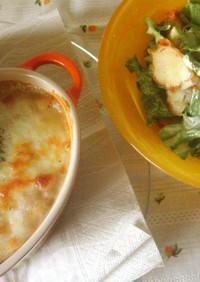 ♡唐揚げサラダ&フライドポテトグラタン♡