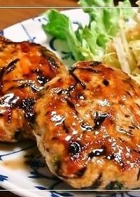 ひじき入り✿甘辛照り焼き鶏つくね