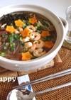 簡単一人鍋♪エスニックなマロニースープ