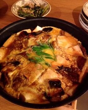 うなぎと豆腐の卵とじ