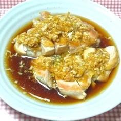 カリカリ鶏肉と旨ネギソース