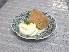 シナモンミルクティーのシフォンケーキ♪