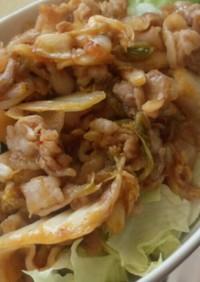 ライト豚キムチ丼約400kcal!